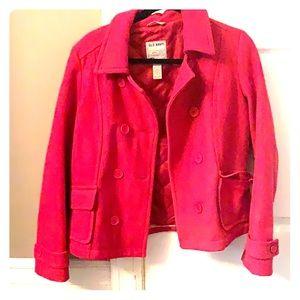 Old navy pink pea coat